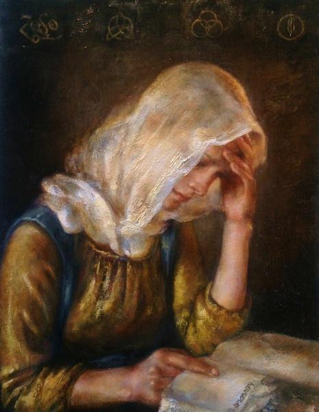 Ten of Wands  by Anne Herrero #painting