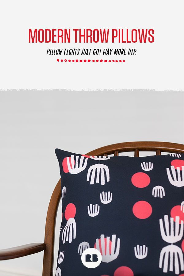 Love these cool modern throw pillows! Redbubble literally has thousands of pillow designs to choose from—you can fit any theme, find any color, pattern, or style with these cushions that come in three great sizes.