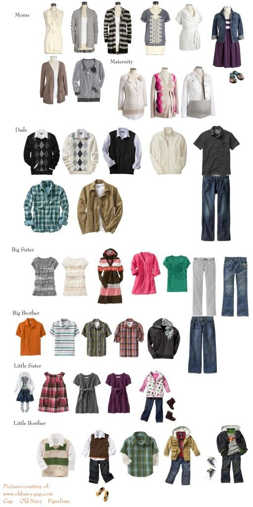 Excellent inspiration board for family wardrobes