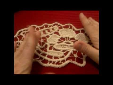 Unraveling Romainian Cord and sewing to another cord - YouTube