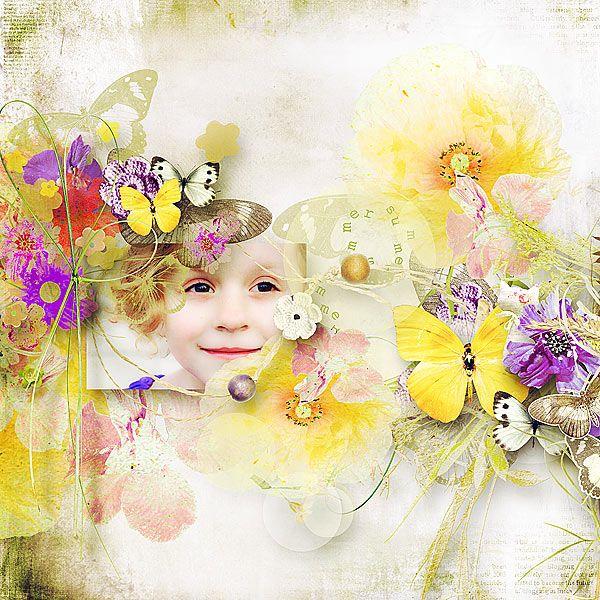 Meadow Butterflies by Et Designs @ scrapbookgraphics