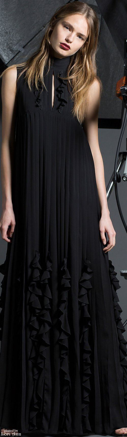 best BLACK images on Pinterest High fashion Black gowns and