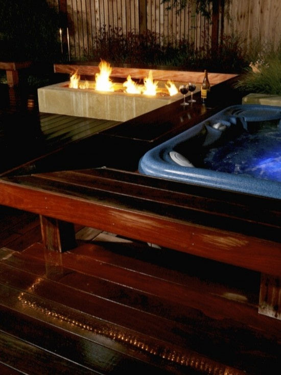 17 best images about hot tub ideas on pinterest hot tub for Deck gets too hot
