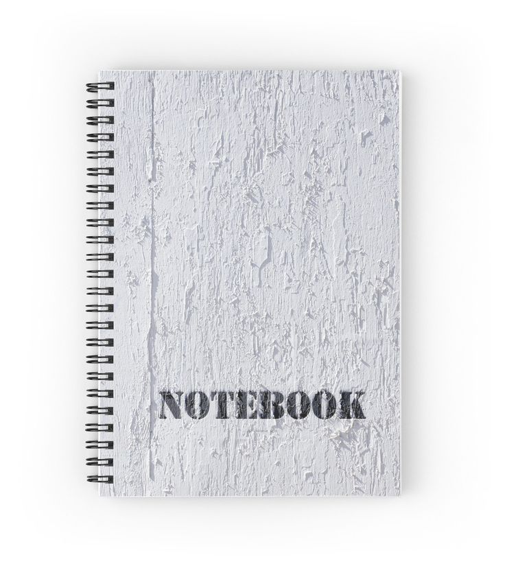 White Plywood Textured Spiral Notebooks by Galerie 503