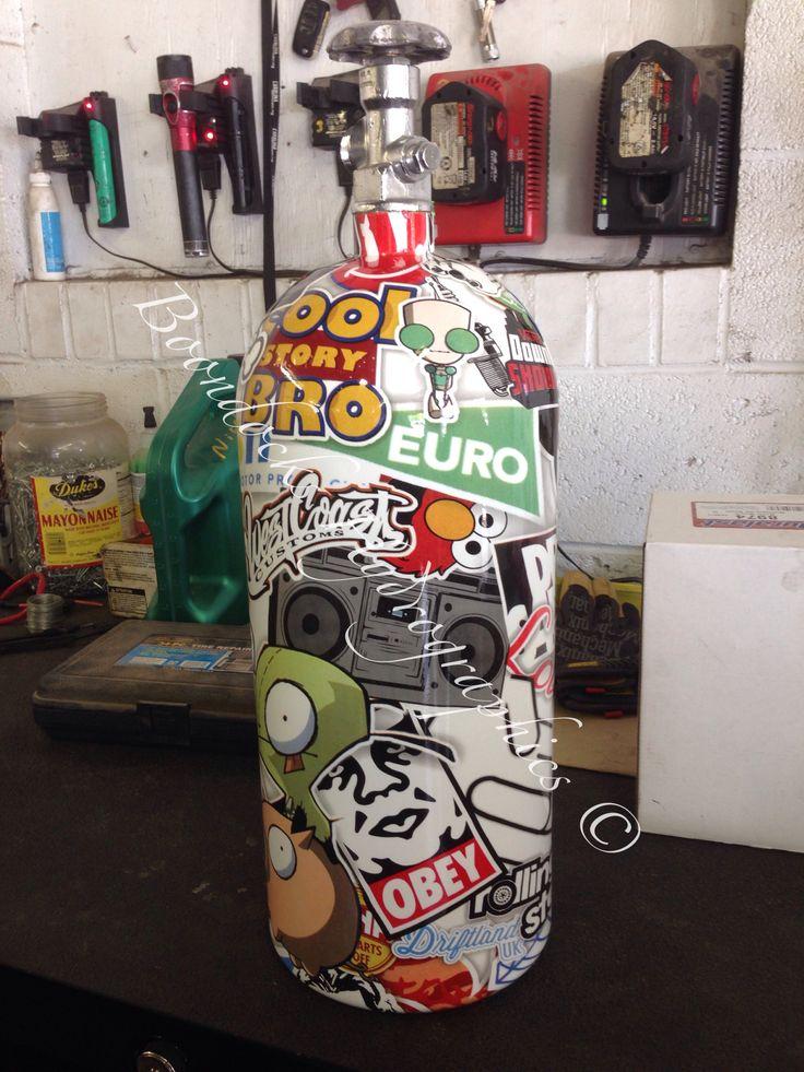 Nitrous tank in UK Sticker bomb !!