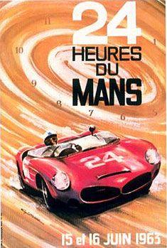 L'affiche des 31ème 24 heures du Mans