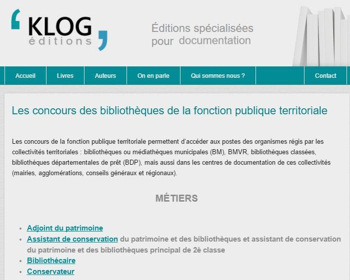 #concours de la fonction publique territoriale - Éditions Klog