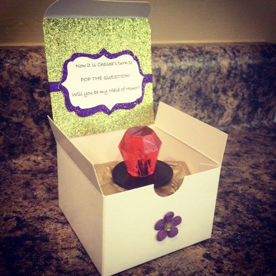 Pop the Question: Will You…Be My Bridesmaid? @Maggy Warren  we need to make these for the bridesmaids.