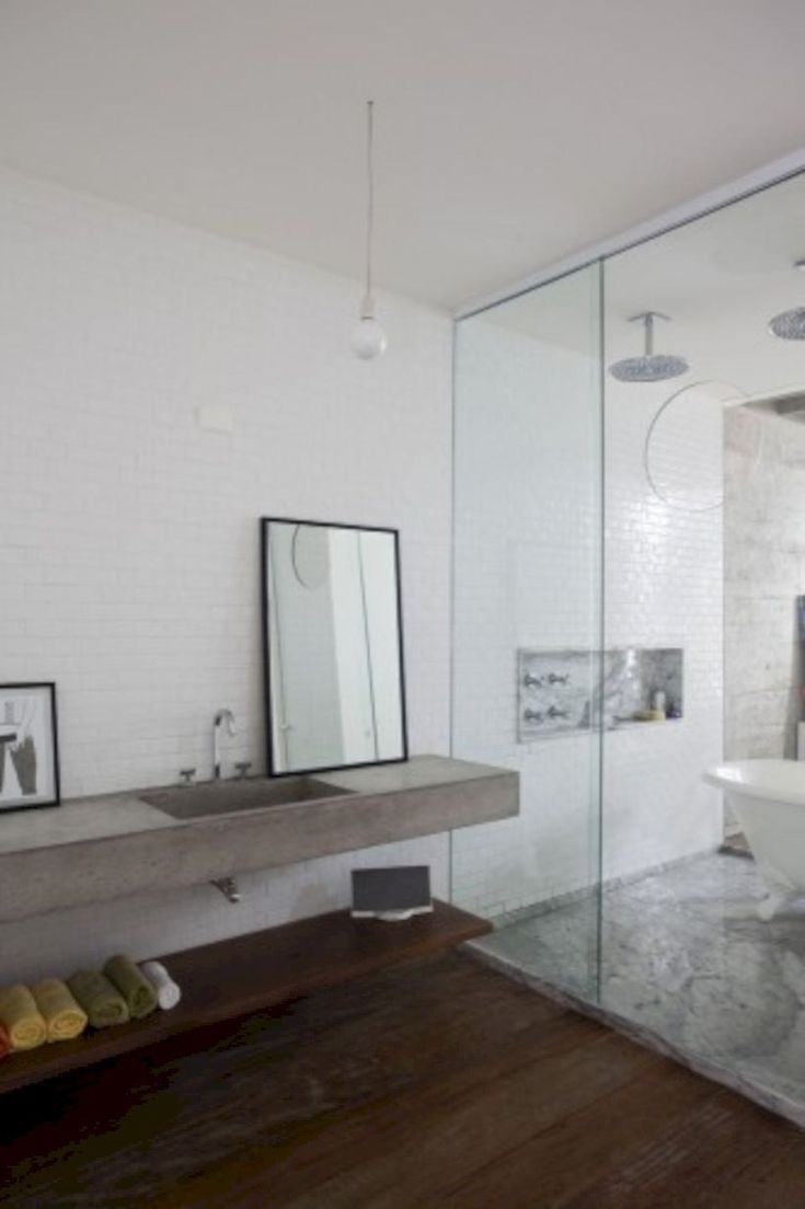 If you don't need to get a bigger bathroom, you can decide on the more compact versions of the vanities. The entire bathroom is made in white and decorated with a huge mirror. A bathroom vanity has changed into a necessity nowadays.