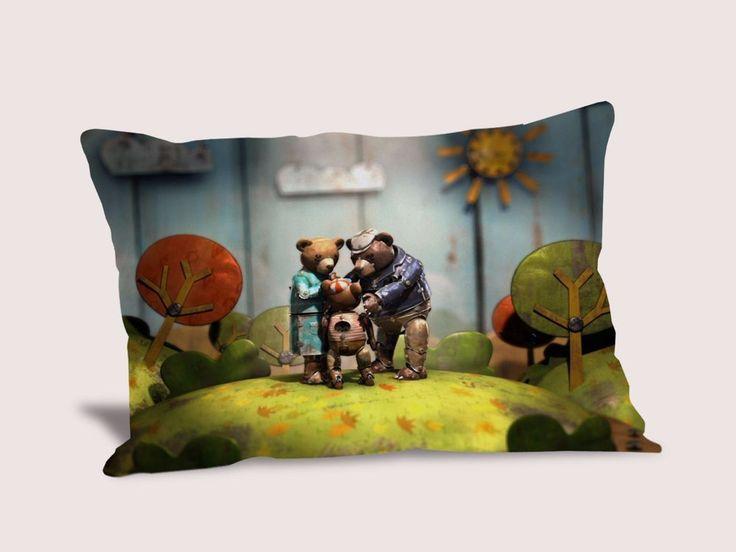 Bear Story Pillow Cover Throw Pillowcase 16x24 20x30 20x36 inches Cushion Case #Handmade #TwinSides