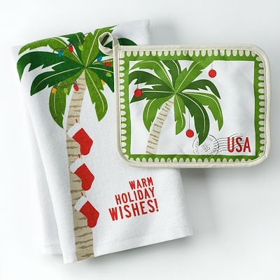Kitchen Accessories At Kohlu0027s   Shop Our Full Line Of Dining Essentials,  Including This St. Nicholas Square Palm Tree Kitchen Towel U0026 Potholder Set,  ...