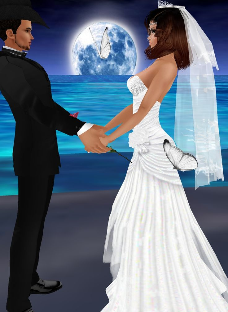 """Married Under the Moon"" - Happily ever after in IMVU - join today"