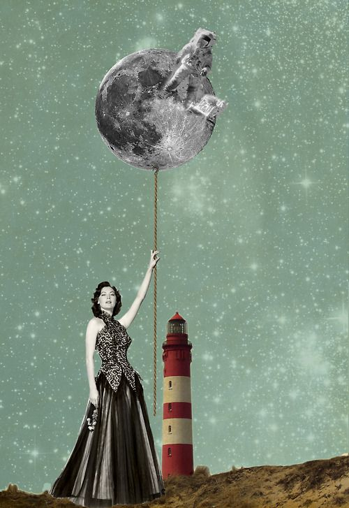 Julia Geiser's digital collages are dreamy, colorful and a slightly bit scary
