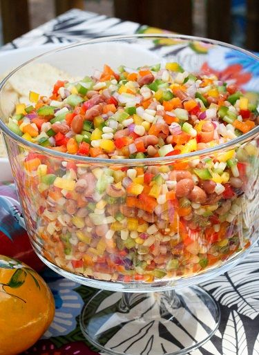 Texas Caviar Recipe ~  Sweet-N-Tangy Salsa…. easy to make, always a hit and so colorful!