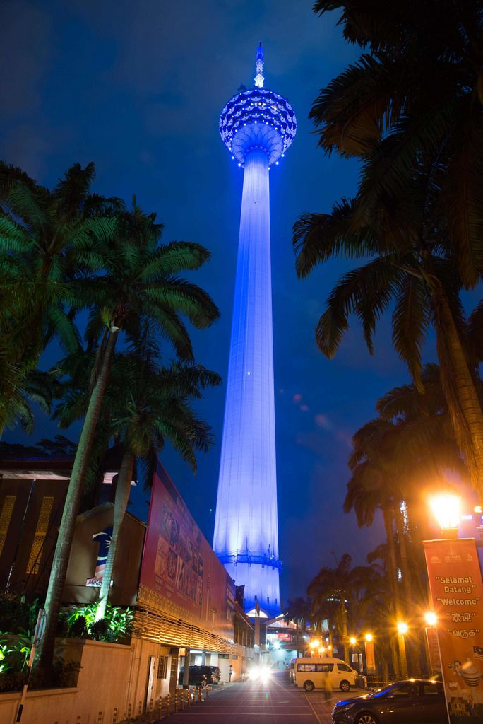 The  Kuala Lumpur Tower, Malaysia. It is used for communication purposes and features an antenna that reaches 421 metres (1381 feet) and is the 7th tallest freestanding tower in the World