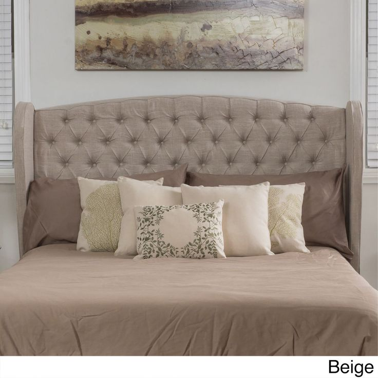 alberta king california king tufted fabric wingback headboard by christopher knight home king