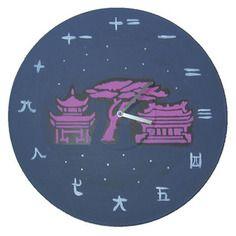 Horloge style japon vinyle 33t