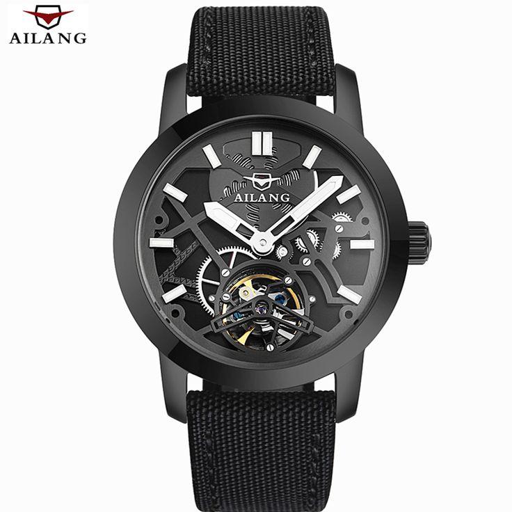 Relogio Masculino 2016 AILANG mannen Luxe Merk Militaire Mechanische Horloges Lederen Holle Skelet Horloge Relojes Hombre in             Relogio Masculino 2016 AILANG mannen Luxe Merk Militaire Mechanische Horloges Lederen Holle Skelet Horloge R van mechanische horloges op AliExpress.com | Alibaba Groep
