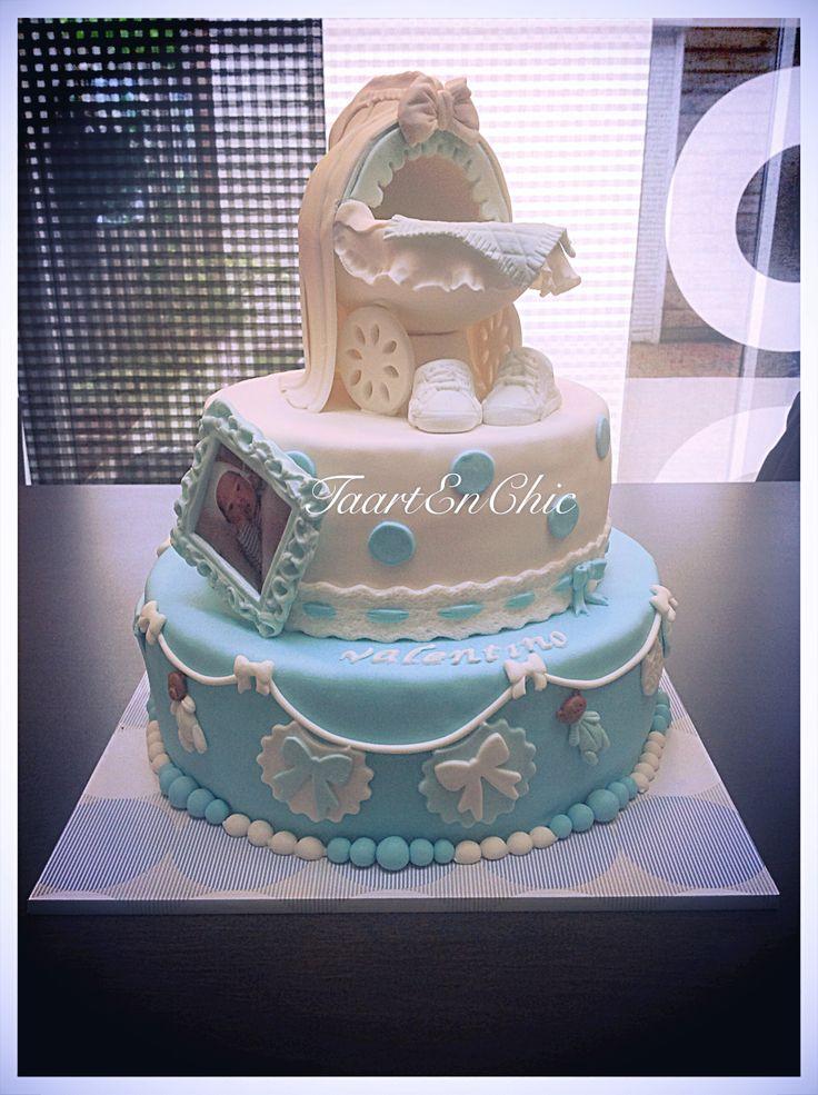 New Born cakes boy/Geboortetaart