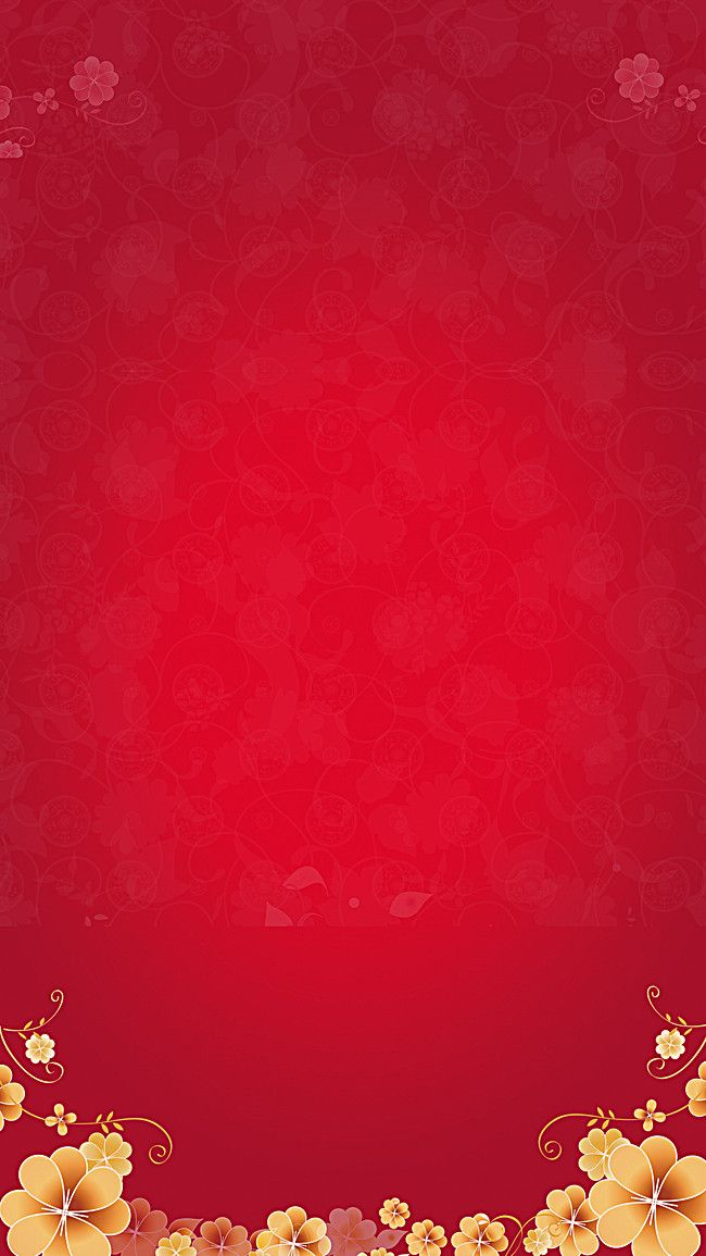 red festive flowers background in 2019