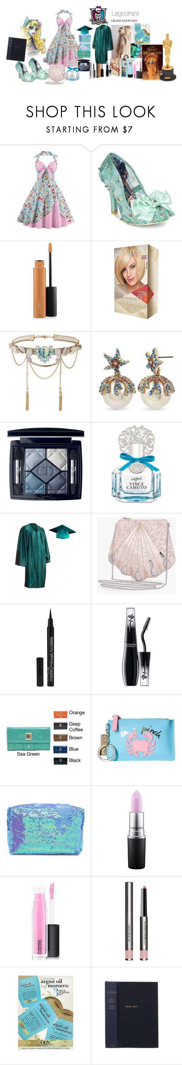 """""""Monster High: Lagoona's Graduation Day"""" by mimi-world on Polyvore featuring Irregular Choice, MAC Cosmetics, Miss Selfridge, Betsey Johnson, Christian Dior, Vince Camuto, Boohoo, Maybelline, Lancôme and OPI"""