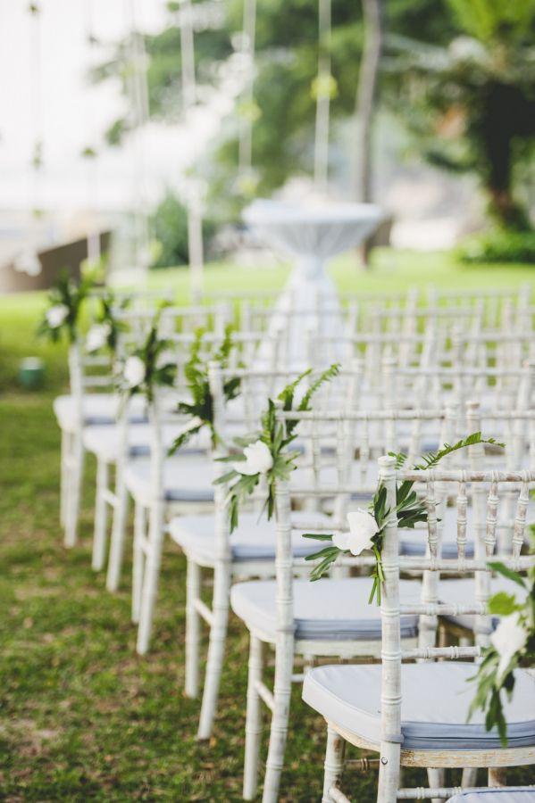 Elegant garden wedding ceremony decor: http://www.stylemepretty.com/destination-weddings/2016/03/04/romantic-singapore-garden-wedding-with-elegant-ballroom-reception/   Photography: Mindy Tan - http://www.mindytanweddings.com/
