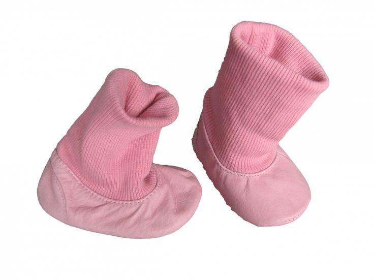 Maat 17 Baby slofjes Licht roze leer nieuw Merk Geen