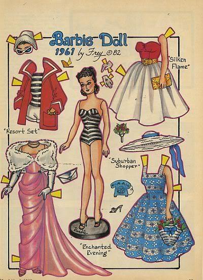 paperdoll barbie