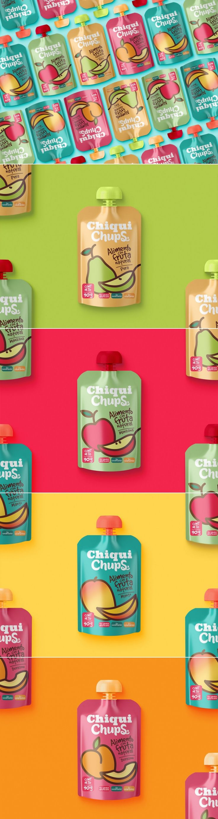 ChiquiChups Are a Bold Take on Baby Food — The Dieline | Packaging & Branding Design & Innovation News