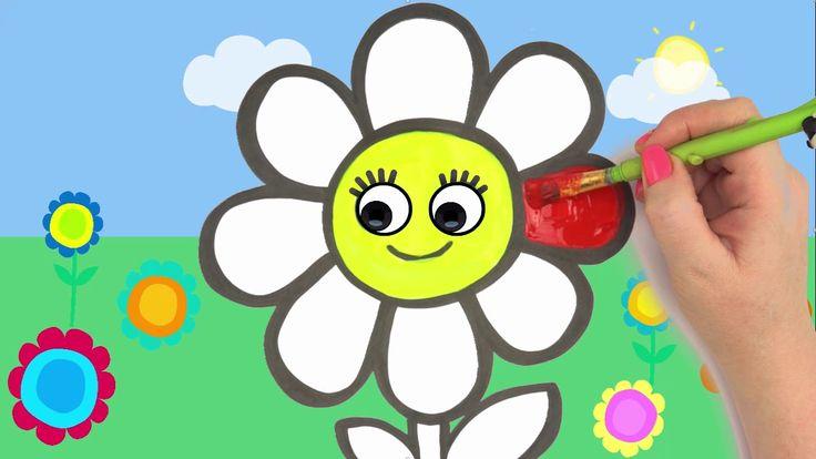 Радуга Цветок Раскраски и рисования 🌈🌼 учить английский и ...