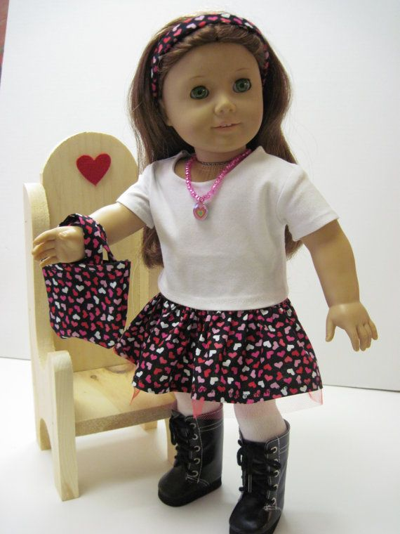 Tiny Red, Pink and White Hearts Ruffle Skirt with Red Tulle,Includes Matching Tote Bag and Matching Headband