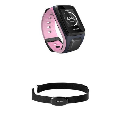 TomTom Spark Small Sky Captain/Pink with Bluetooth Heart Rate Monitor Bundle #deals