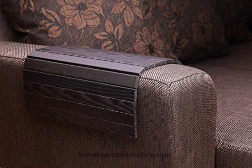 HomeDecorLive.com Sofa Tray Table BLACK, Wooden TV tray, Wooden Coffee Table, Lap Desk for small spaces, Wood Gifts, Sofa Arm Tray, Armrest Tray, Couch Tray, Sofa Table, Wood Tray