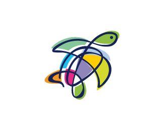 25 Turtle Logo Design Inspiration - Smashfreakz