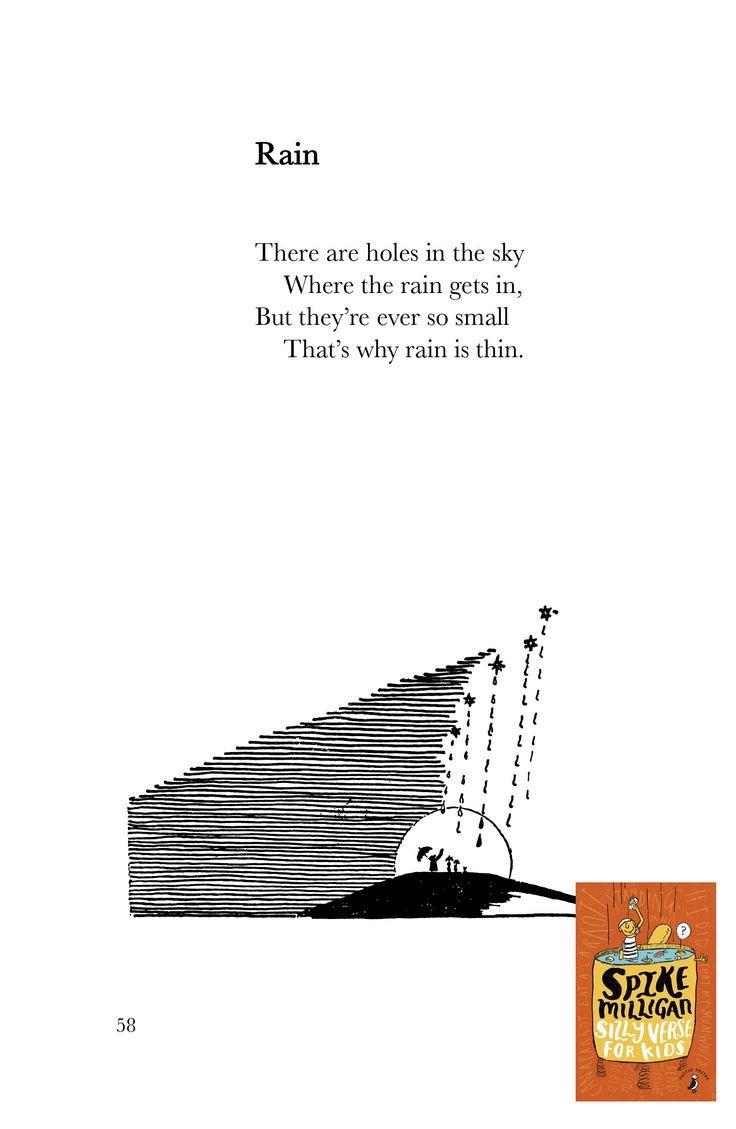 A rather good poem, RAIN - by Spike Milligan.