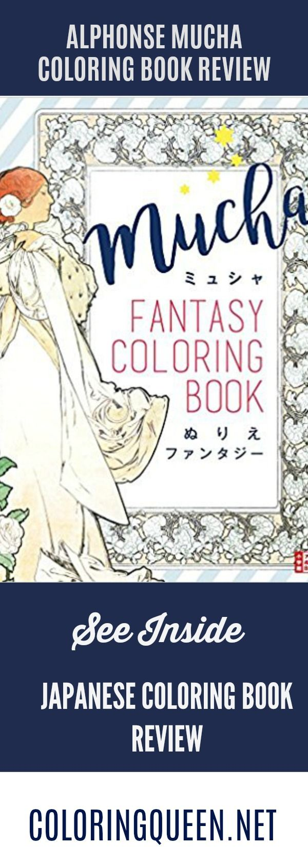 The coloring book analysis - Mucha Fantasy Coloring Book Review