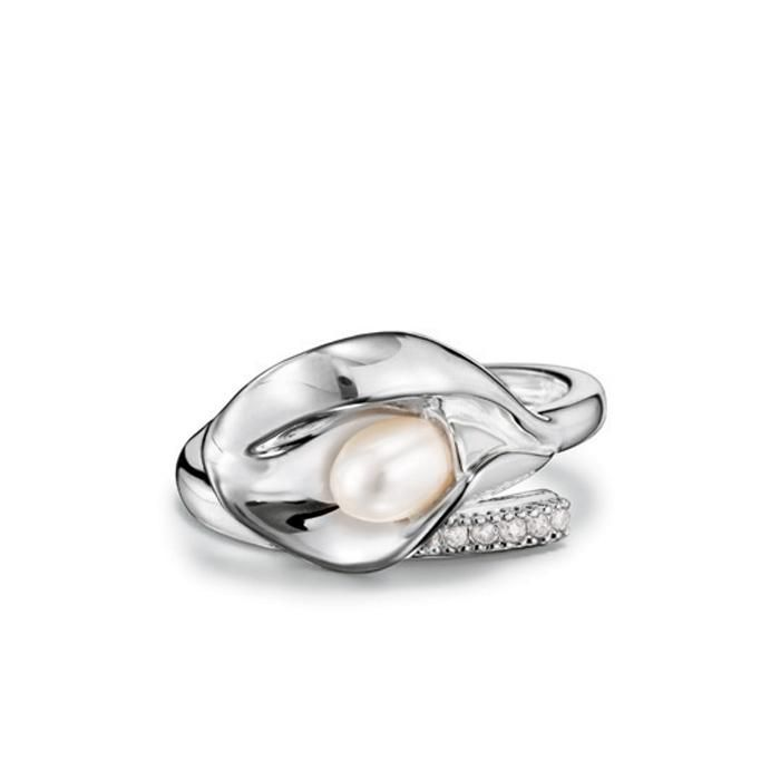 crystal and pearl set of three rings - Metallic E.M. rrPALG