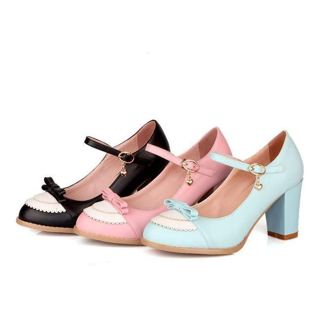 Hoping you'll love this... Pumps buckle strap 8cm thick high heels