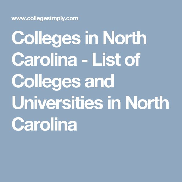 Colleges in North Carolina - List of Colleges and Universities in North Carolina