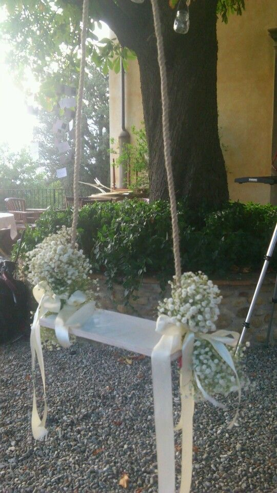 Tuscan country chic wedding Swing decor
