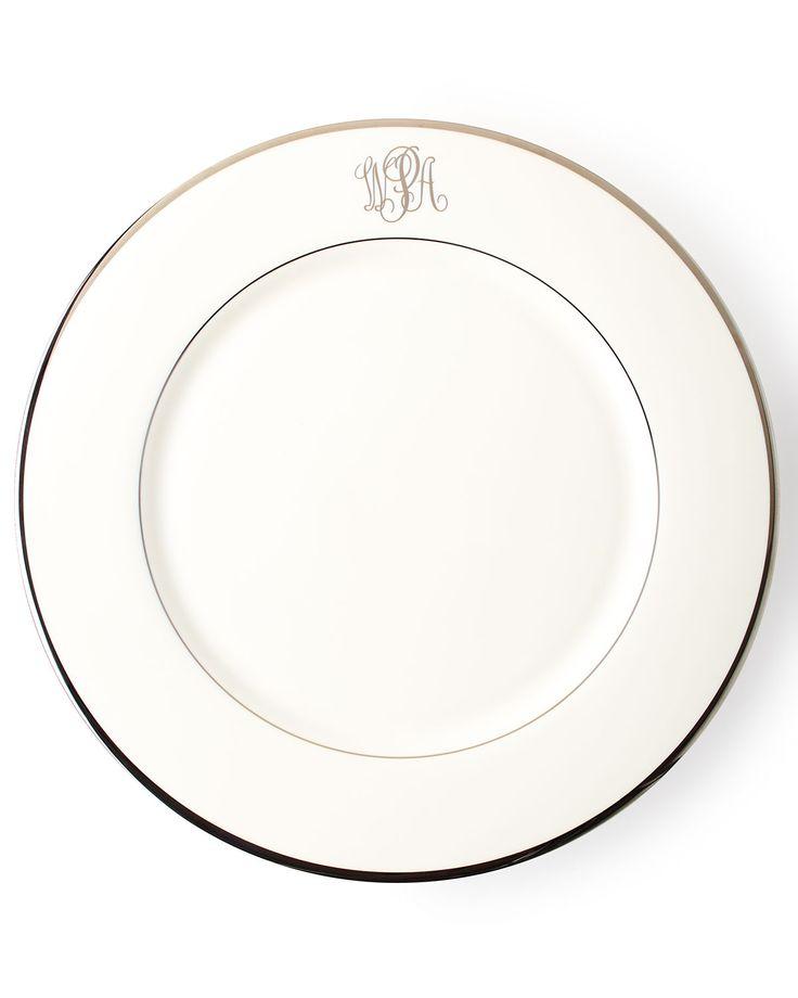 White Script Monogram Charger Plate Gold  sc 1 st  Pinterest & 189 best *Dinnerware \u003e Plates* images on Pinterest   Dinner ware ...