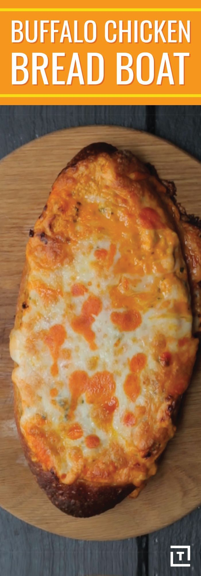 """Since a simple paragraph could never do a piping-hot puddle of scrumdiddlyumptious Buffalo chicken, placed inside a """"boat loaf,"""" justice, we have to resort to the most elegant form of poetry: the haiku.  Buffalo chicken The majesty of the gods Now, inside of bread"""