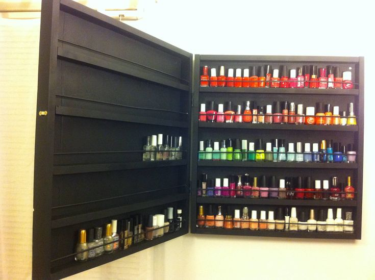 Boyfriend promised to make me a nail rack for my growing collection. But he recently left me so I made it myself! - Imgur