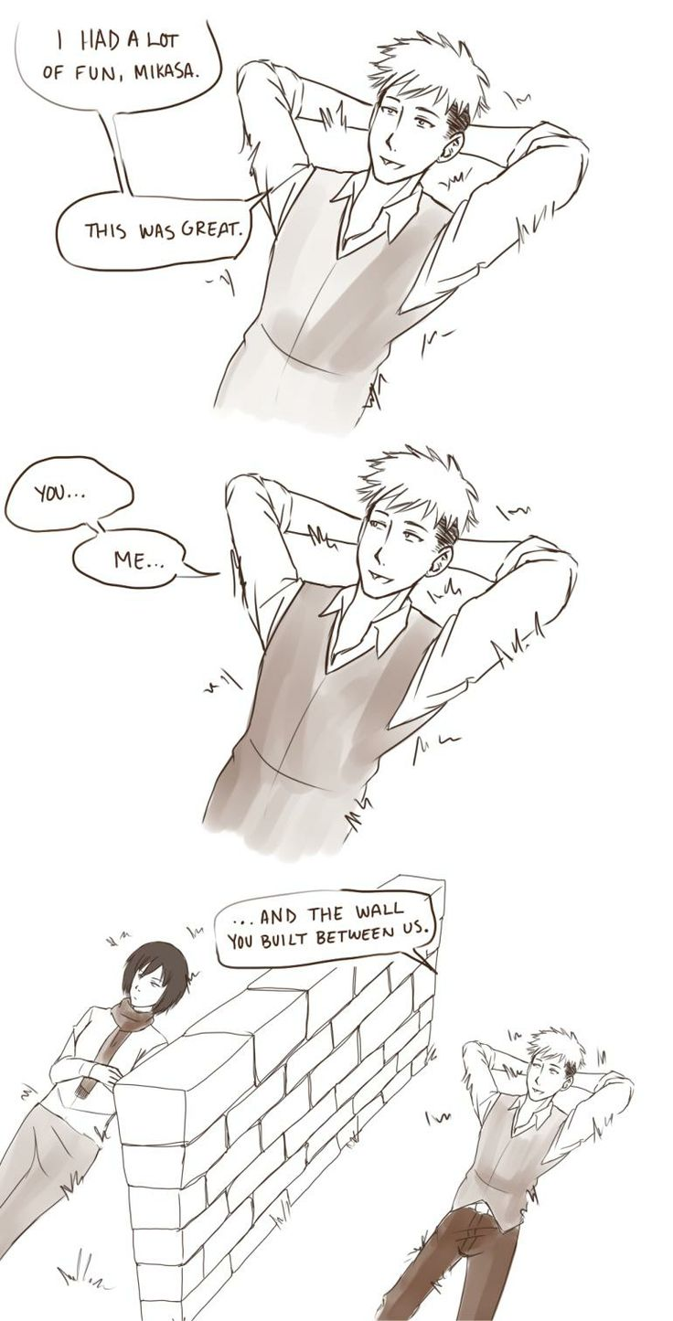 Too bad MIKASA doesn't like Jean...*nervous laughter*