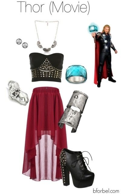 Thor Inspired Fashion look at the link for all the avengers