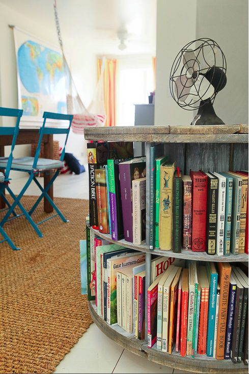 Store books where students will be tempted to read them. | 27 Ridiculously Cool Homeschool Rooms That Will Inspire You