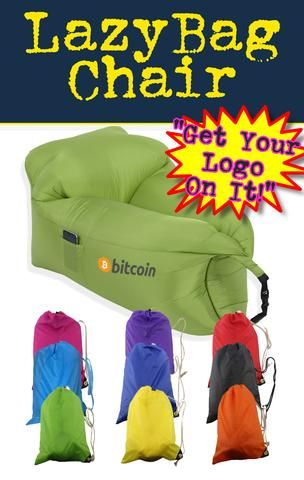 Put your logo on a lazy bag chair! Order your Lazy bag for the next tradeshow, corporate giveaway and swag.
