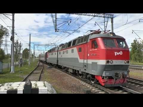 Электровоз ЧС7-047 с пассажирским - YouTube