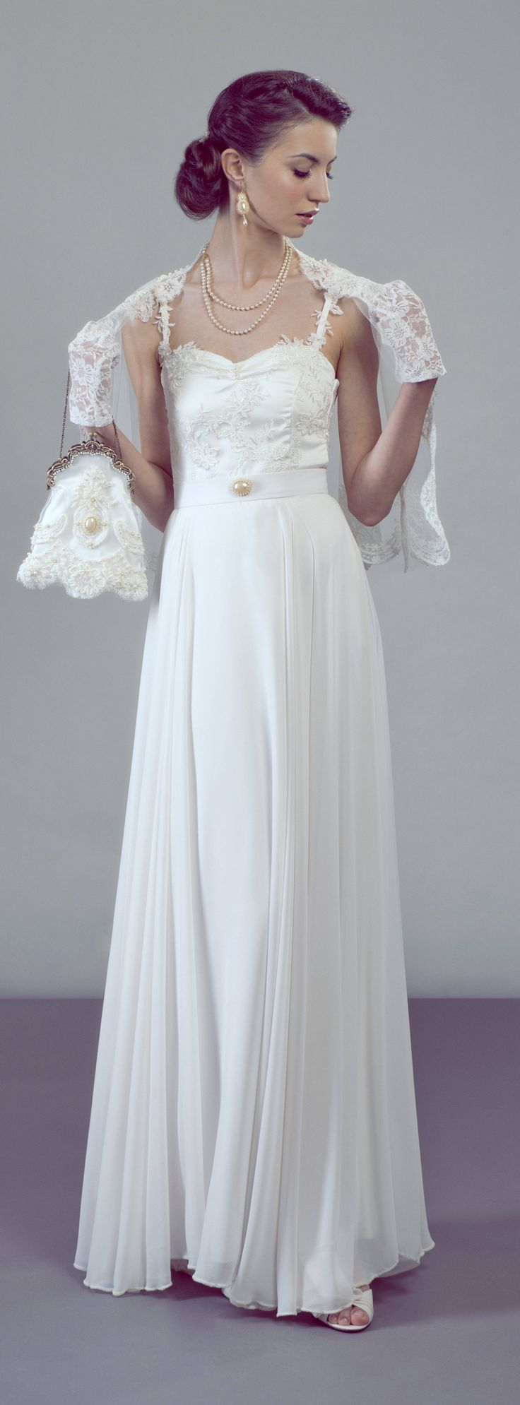 Elegant Vintage Inspired Bridal Look By Petite Lumiere Two Piece Wedding Dress Separates
