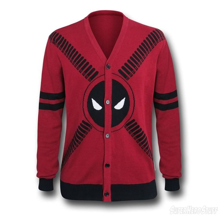 Images of Deadpool Symbol and Straps Men's Cardigan
